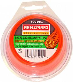 Craftsman 0.095 Inch Replacement Trimmer Line 40ft Spool Hom