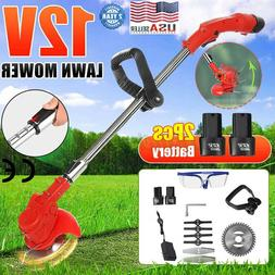 12V Electric Grass Trimmer Weed Eater Edger Lawn Mower Cordl