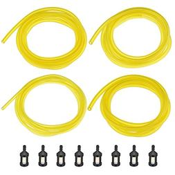 Shappy 20 Feet Fuel Line Hose  with 8 Pieces Fuel Filters, R
