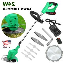 24V Cordless Grass Trimmer Electric Trimmer Lawn Cutter Mowe