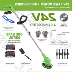 24V Cordless Yard Grass Trimmer Electric Trimmer Lawn Cutter