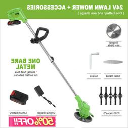 24V Electric Weed Eater Lawn Wacker Edger Cordless Grass Str