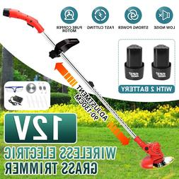 450W Electric Weed Eater Lawn Edger Cordless Grass String Tr