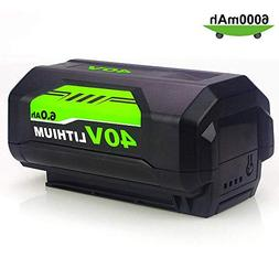 40 Volt 6.0Ah High Capacity Replacement for Ryobi 40V Batter