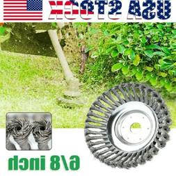 6/8'' Knotted Steel Wire Trimmer Head Grass Brush Cutter Wee