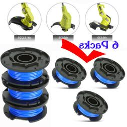 6 Pack Replacement Spools Line Trimmer String Weed Edger Ryo