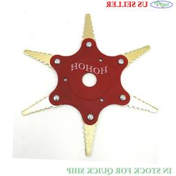 6 Steel Blades Trimmer Head Cutter For Weed Eater Trimmer 65