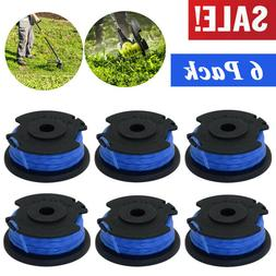 6Pack String Trimmer Replacement Spool Line Weed Eater Edger