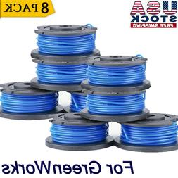 8X Replacement Spool For Greenworks Weed Eater 21332 16ft 0.