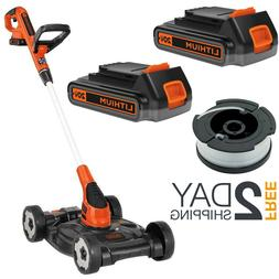 Battery Powered Lawn Mower And Trimmer Edger Cordless Push W