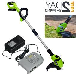 Brushless Cordless String Trimmer Weed Eater Wacker With Bat