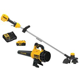 cordless straight shaft weed trimmer leaf blower
