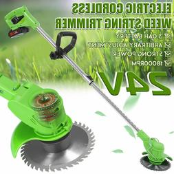 Cordless String Lawn Mower Grass Trimmer Weed Eater W/24V Li