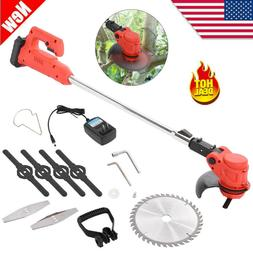 cordless string lawn mower grass trimmer weed