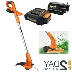 Cordless String Trimmer And Edger With Battery Charger Weed