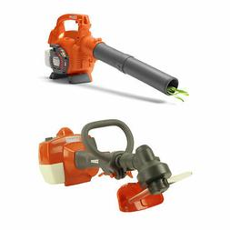 Husqvarna Kids Battery Operated Toy Leaf Blower + Toy Lawn W