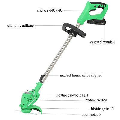 21V Li-Ion Cordless Powerful Electric Lawn