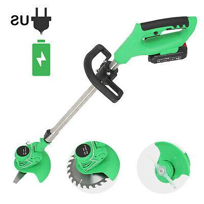 21V Li-Ion Powerful Electric Lawn Trimmer Edger US