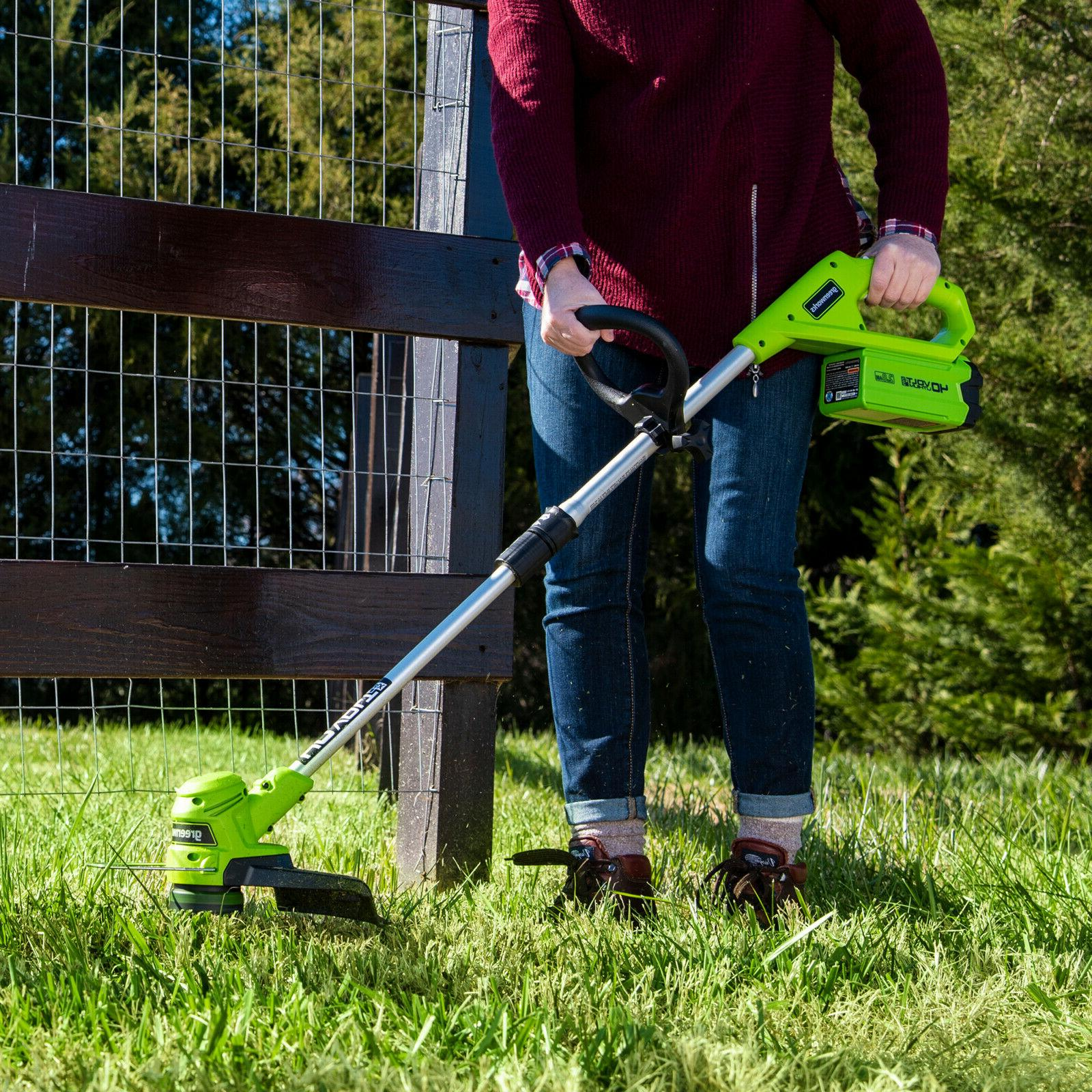 Greenworks 12-Inch Trimmer Ah Battery and Charger