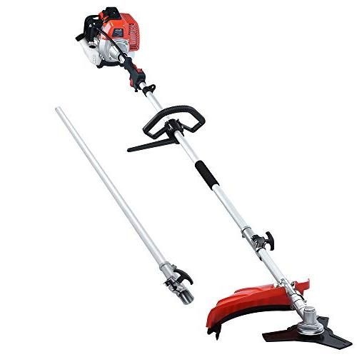 Maxtra Powerful in 1 Multi Pole Saw, Trimmer,Brush 8.2 FT Extension Pole Bag for Pruning