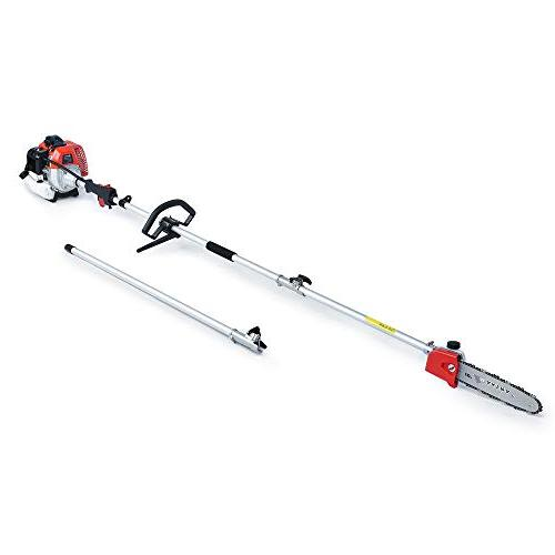 Maxtra Powerful 42.7cc in Multi Pole Gas Trimmer,Brush Cutter,String Trimmer 8.2 11.4 Extension Pole & Bag Pruning