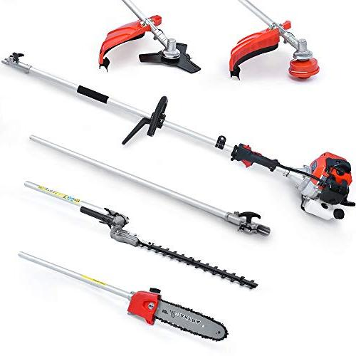 Maxtra Powerful in 1 Trimming Multi Pole Saw, Trimmer,Brush Trimmer 8.2 11.4 Extension Pole & Bag Comes Pruning