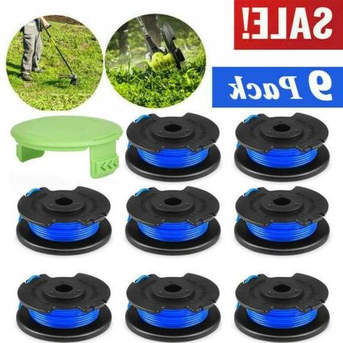 9pack string trimmer replacement spool line weed