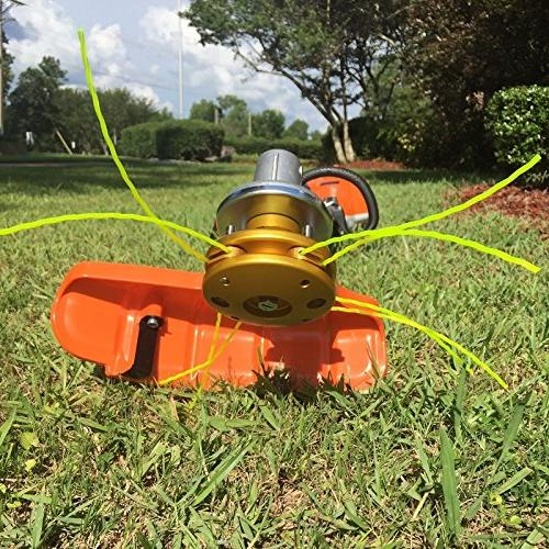 Turn your Weedeater into a Beast. Change from line to blades in seconds BadgerHead The Innovative Quick Change Grass Trimmer Replacement Head Heavy duty aluminum /& stainless steel construction