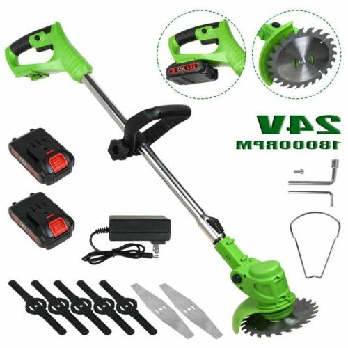 24V Electric Weed Grass Trimmer Eater Edger Lawn Mower Cordl