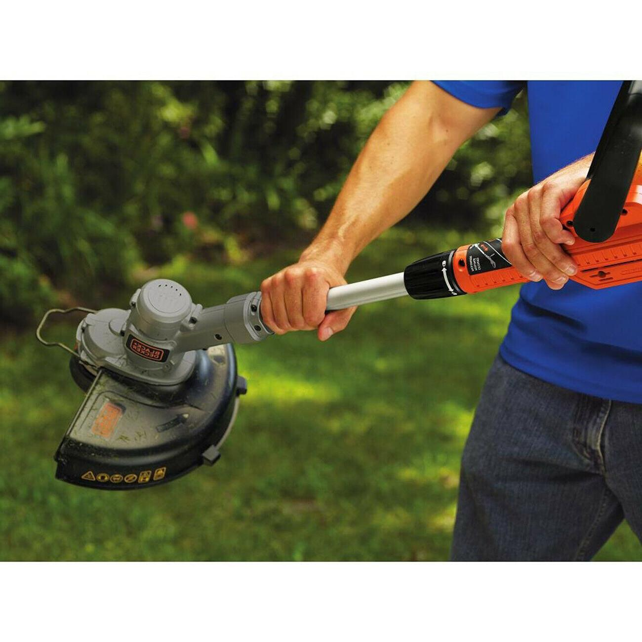 Black and Cordless Weed Eater String Trimmer Lawn New
