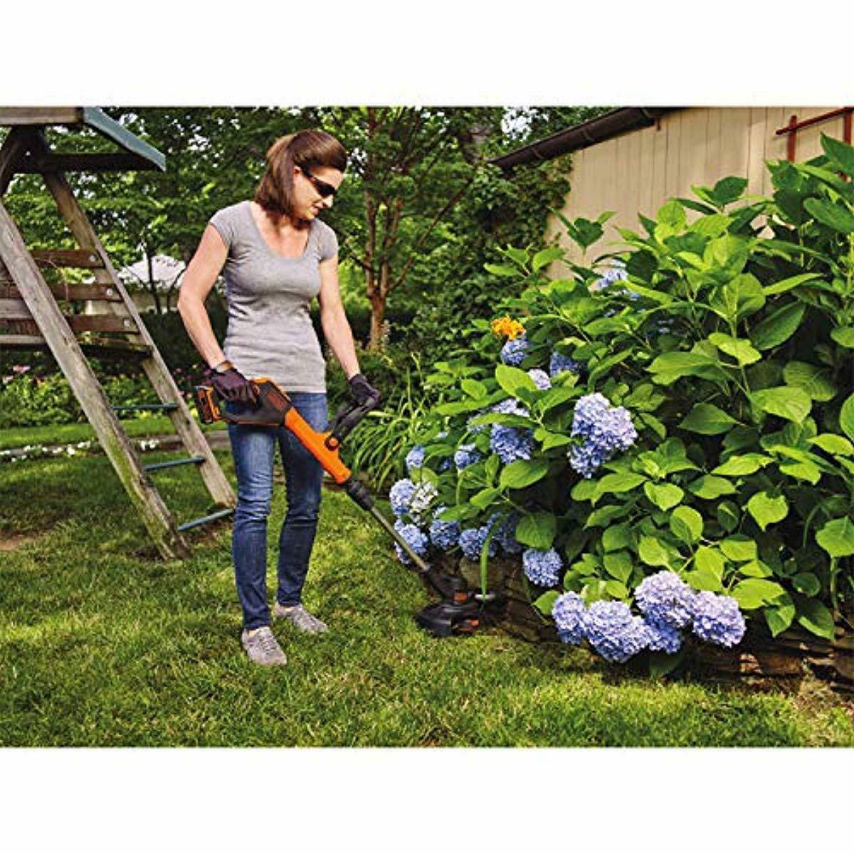 BLACK+DECKER MAX Lithium Feed Trimmer/Edger with 2 Batte