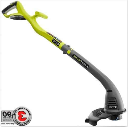 cordless electric string grass trimmer edger weed