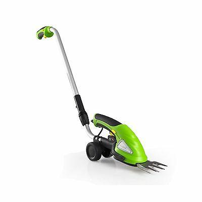 SereneLife Cordless Push Grass Cutter Shears Wheeled Electri