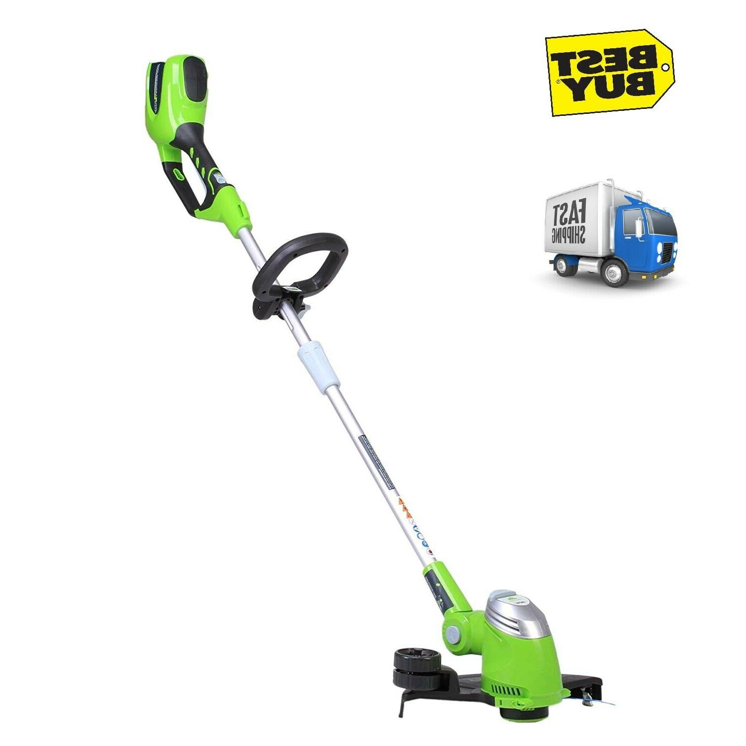 cordless string trimmer weed eater wacker grass