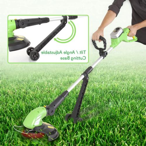 Cordless Yard Trimmer Whacker Rechargeable Portable