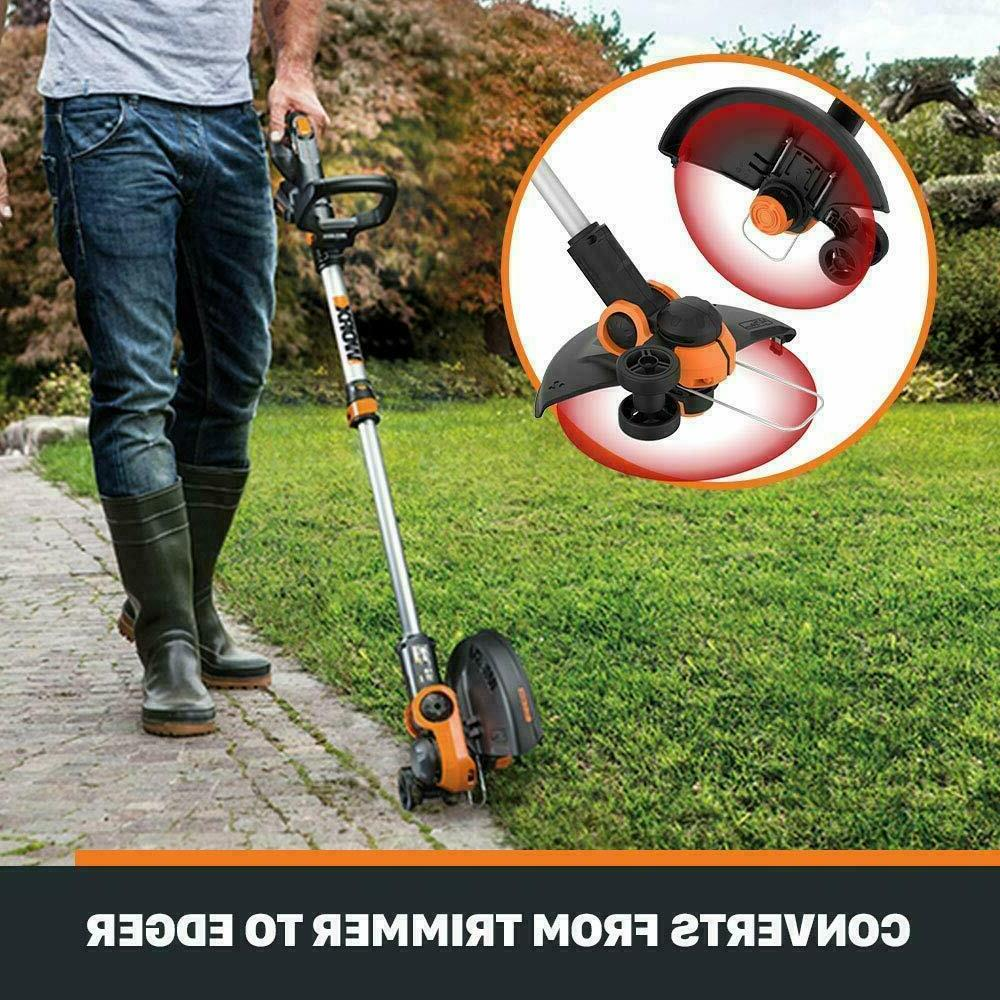 Electric Cordless Trimmer Weed Eater Wacker Edger Yard