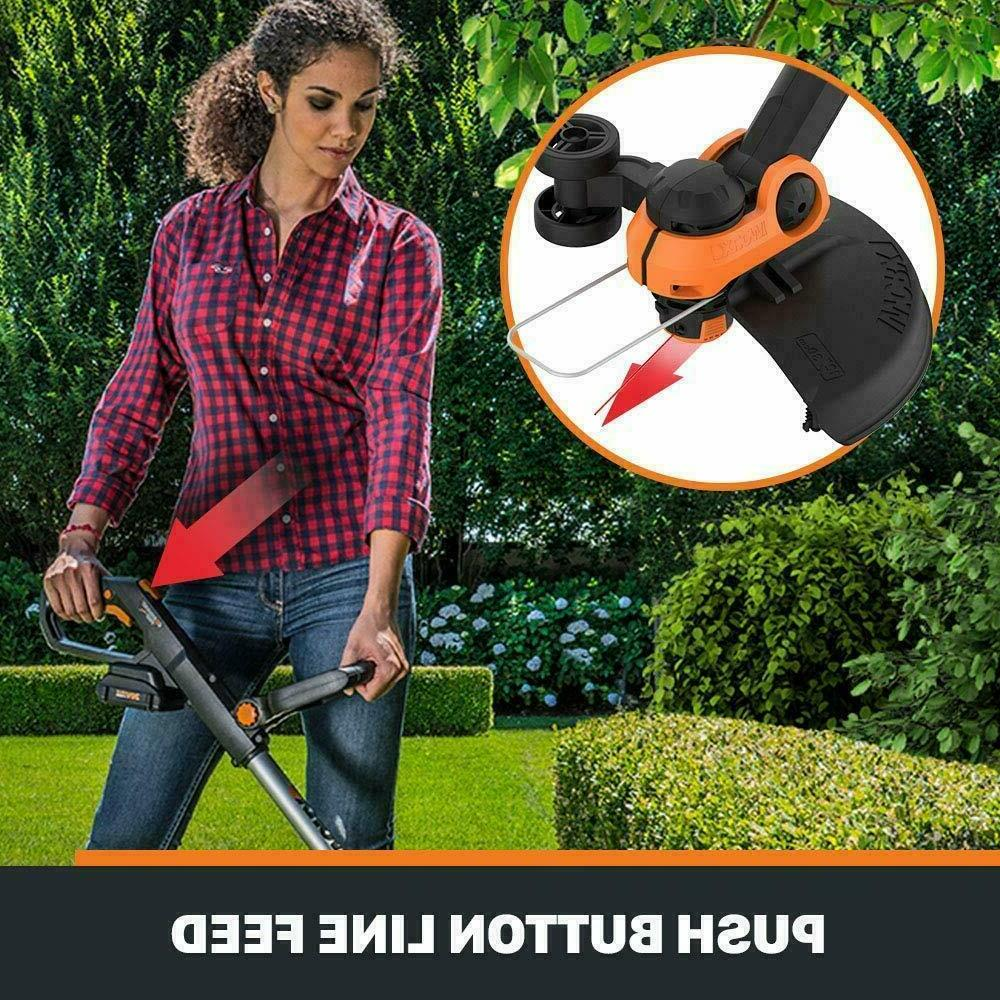 Electric Cordless String Weed Eater Lawn Wacker Edger Grass Yard