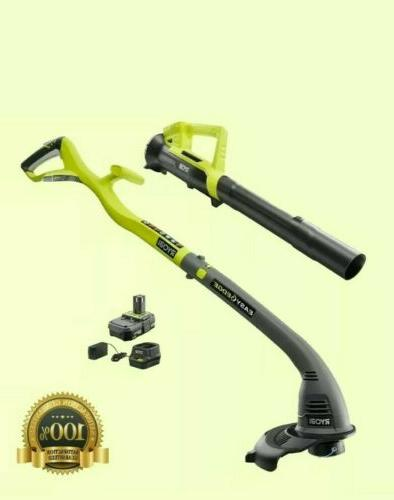 Electric Weed Trimmer Edger Blower Kit Battery Charger NEW