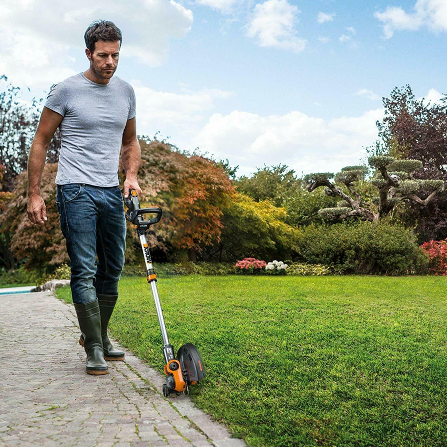 20V Electric Trimmer Lawn Wacker Edger Yard
