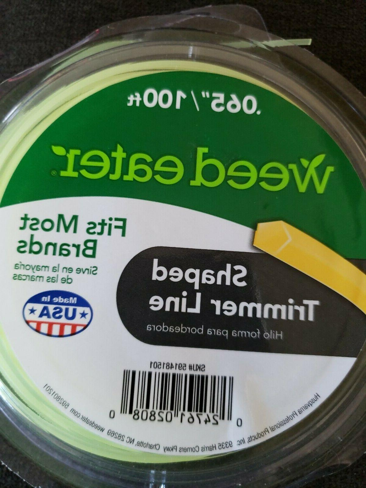 """Lot Eater Shaped Trimmer Line 100ft / .065"""" Fits Most"""