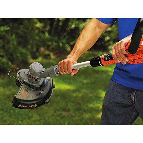 Black & Decker LST300 12-Inch Lithium Trimmer and Edger, 20-volt