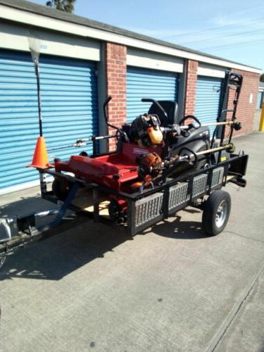 2-Place Edgers gas Trimmer Rack Open Trailer