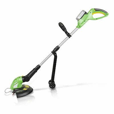 SereneLife Rechargeable Wacker String Trimmer Edger