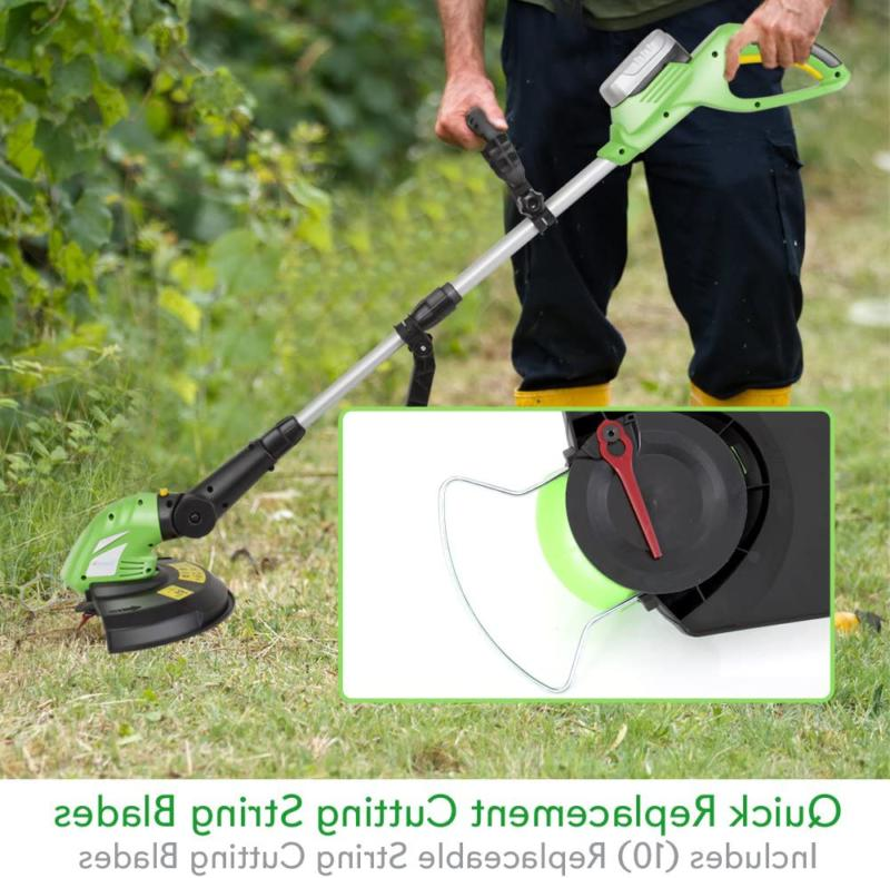 Weed Whacker Grass Edger String Trimmer w SereneLife Cordless