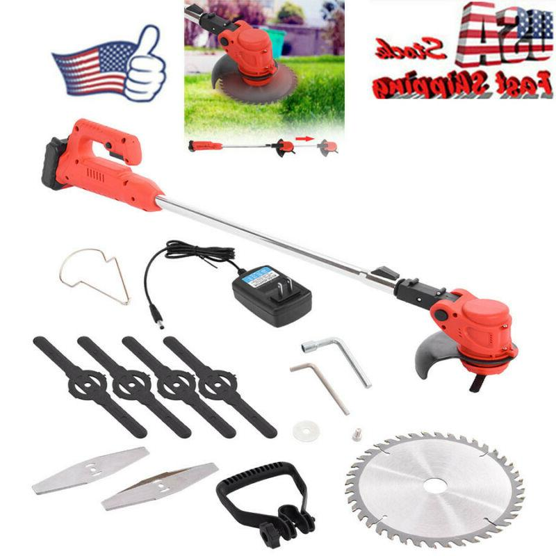 us 24v electric cordless string trimmer weed