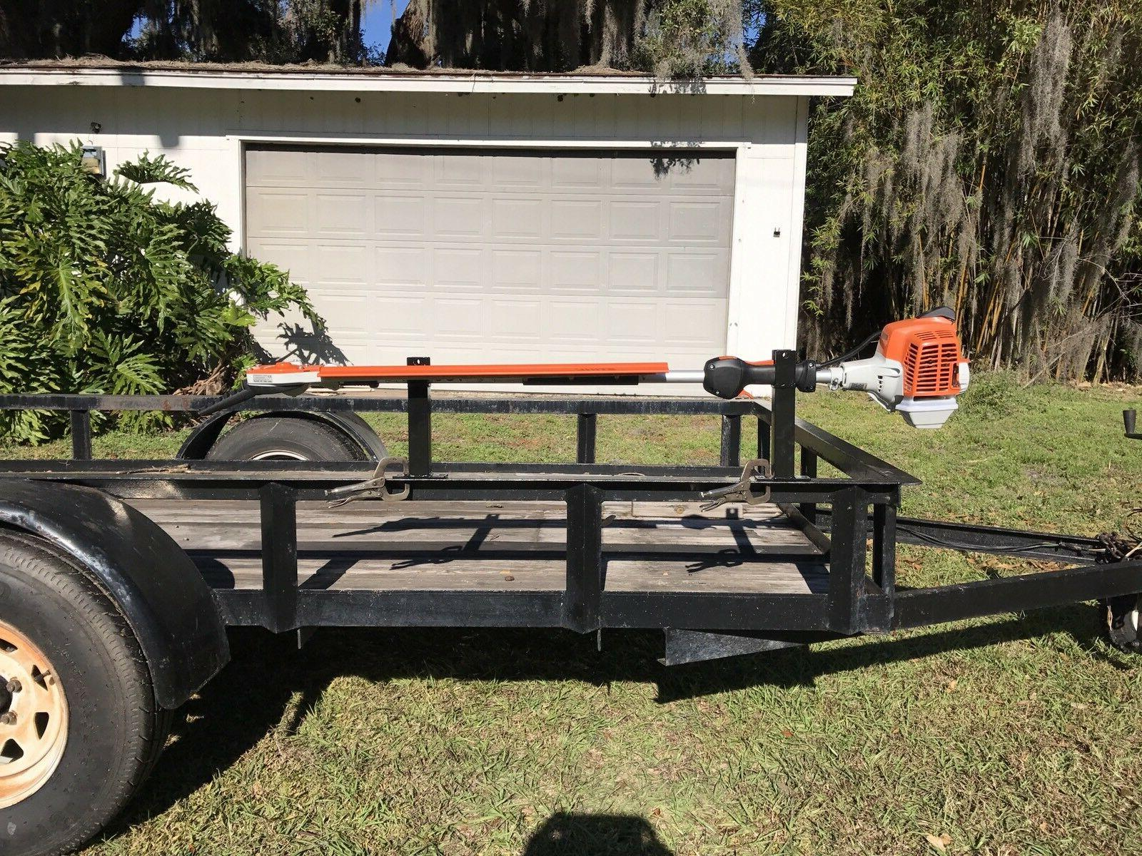 Tall Holder For Weedeater Edger Trimmer Weed Open Trailer &