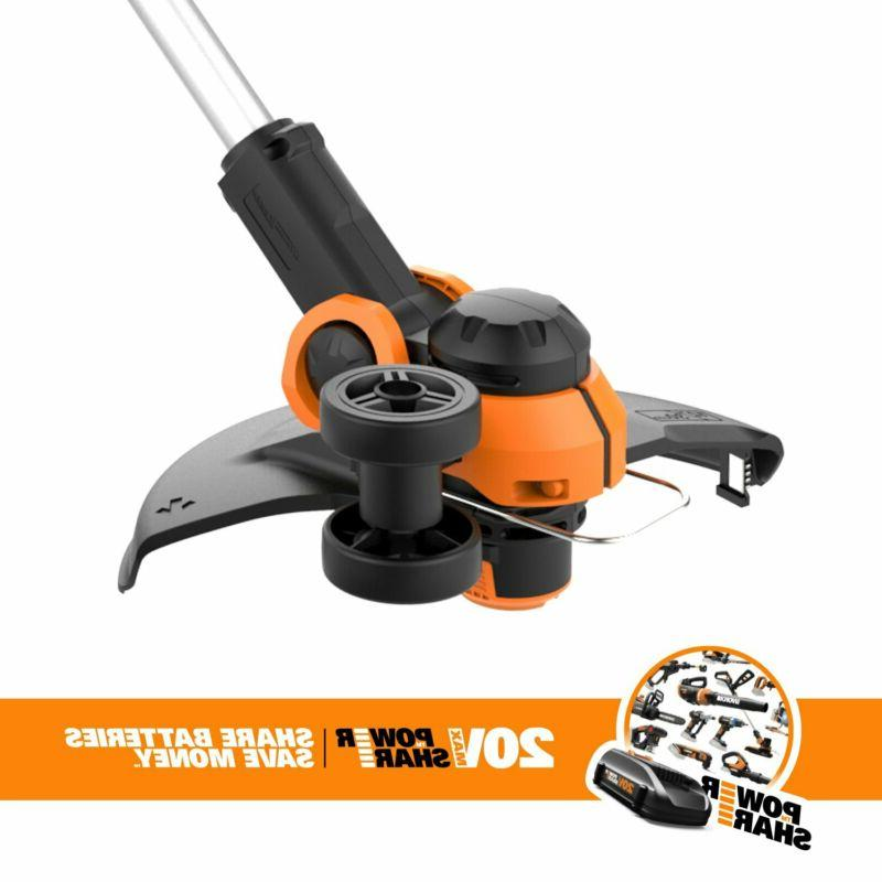 Worx 20V Grass Trimmer/Edger With Command Feed,