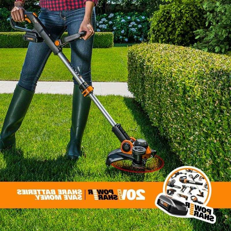 Worx Wg163.9 Cordless Grass Trimmer/Edger Feed,