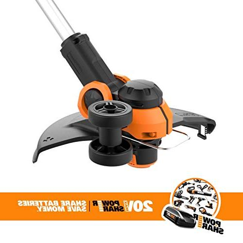 Worx 20V Trimmer/Edger with 2 and Included