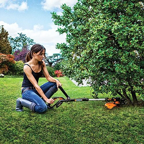 WORX 20V Cordless Grass Trimmer/Edger Feed, battery and sold separately